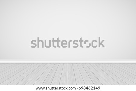 Studio empty white wall background. Vector scalable image