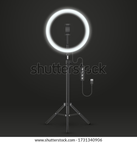 Studio lamp light ring or LED selfie lamp