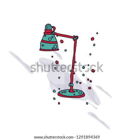 study lamp vector