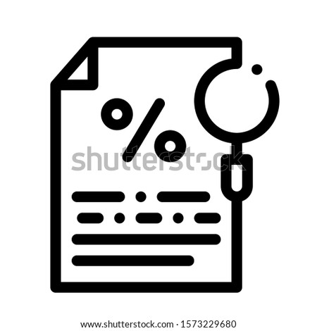 Study of Interest Related Documentation Icon Vector. Outline Study of Interest Related Documentation Sign. Isolated Contour Symbol Illustration