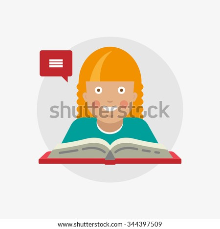 study woman student speaking