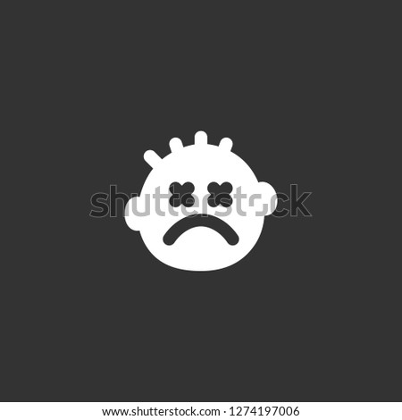 stunned icon vector. stunned vector graphic illustration