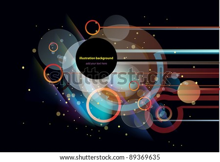 Stunning light motion impressive abstract background