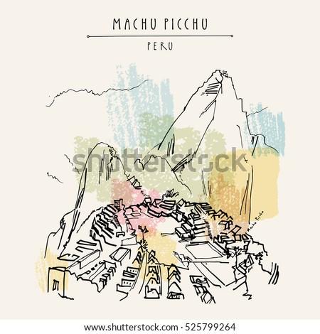 stunning view of machu picchu