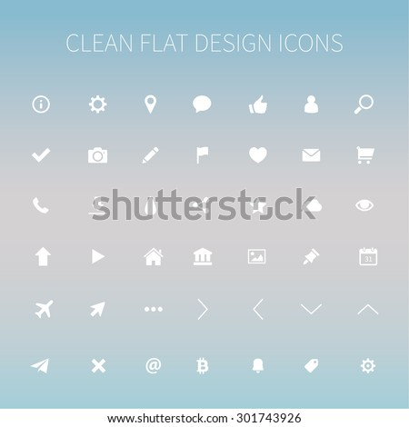 style and clean icons pack for