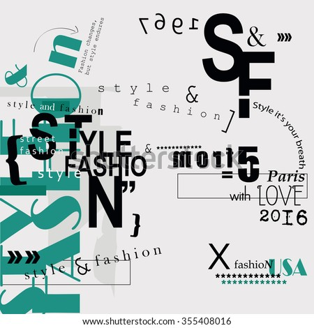 style and fashion word cloud
