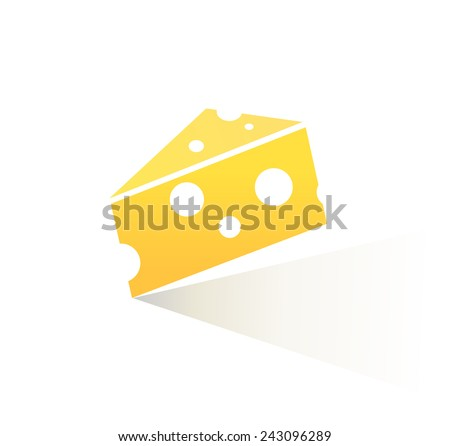 Style Cheese Icon Isolated on white background