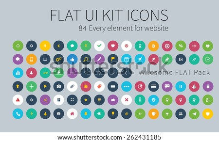 style flat icons pack for