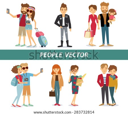 style people and couples vector