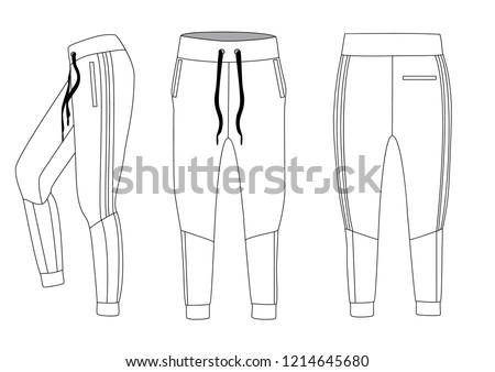 Style sport pants, vector