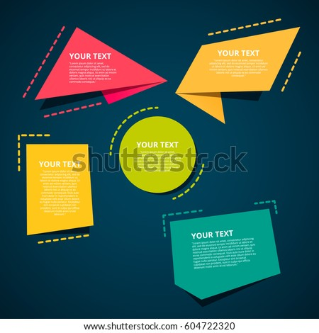 Style text templates origami for banner