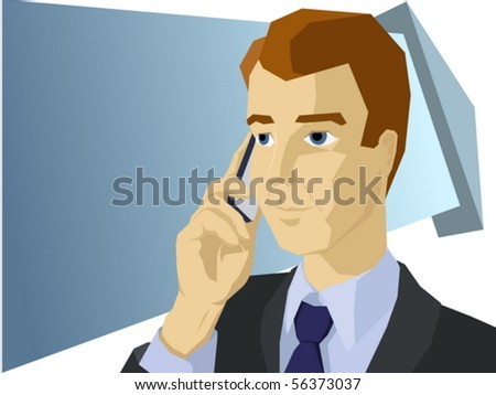 Styled businessman talk the mobile phone
