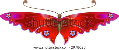 Stylised Butterfly An illustration of a beautiful Stylised Butterfly. No meshes used.