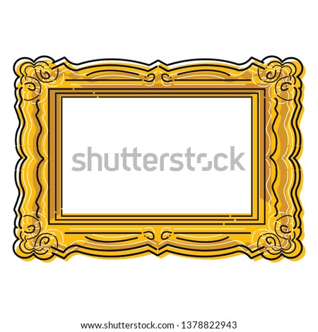 Stylised ornate vector picture frame