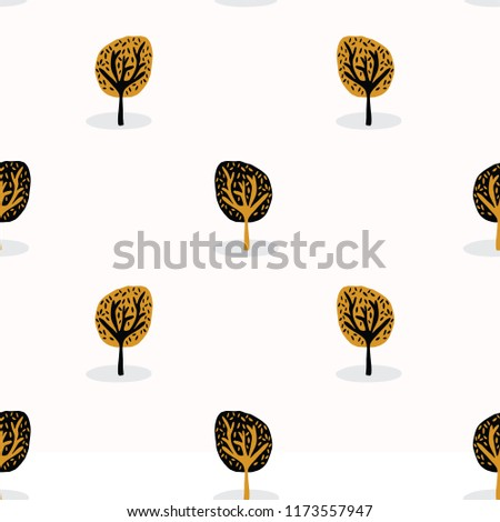 stylised tree wood repeating