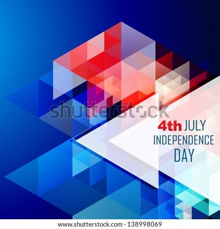 stylish abstract american independence day vector illustration