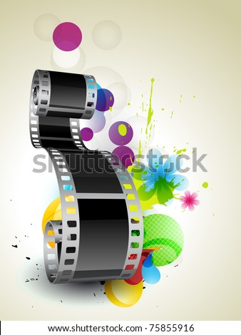 stylish abstract film on abstract background