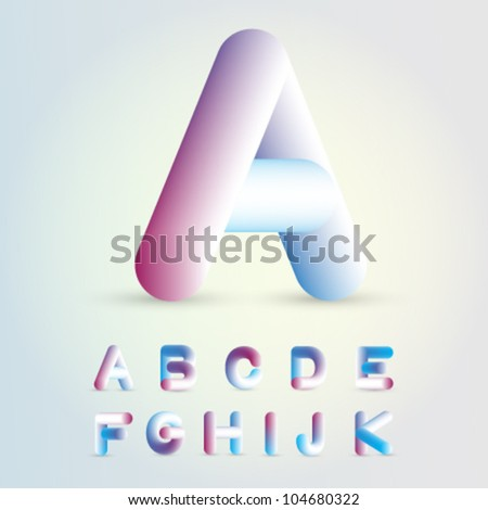 Stylish Alphabets Writing Stylish Alphabet a k Stock