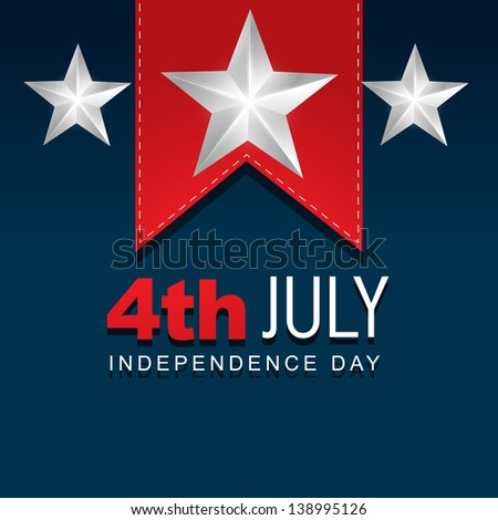 stylish american independence day design