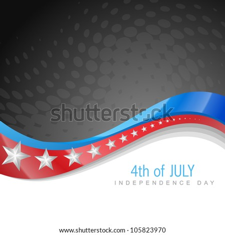 stylish american independence day wave art