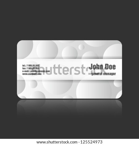 Stylish and modern business card