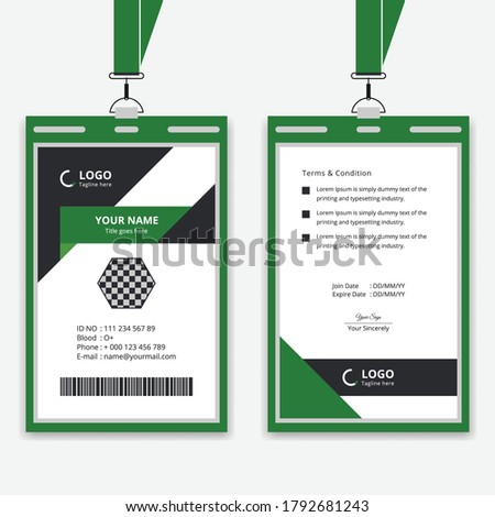 Stylish and modern ID card design vector template, company employee identity design  Stock photo ©