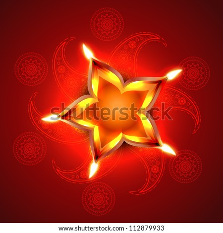 stylish artistic happy diwali vector background design