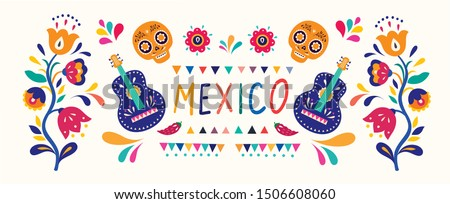 Stylish artistic Mexican decor for Mexican holidays and party Сток-фото ©