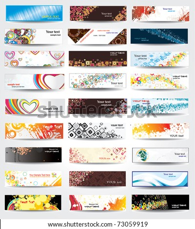 Stylish banners on different topics
