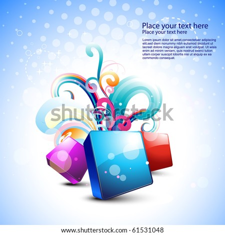 stylish beautiful abstract vector art