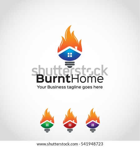 stylish  burnt home  logo