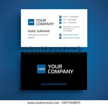 Two Sided Business Card Vector Design Download Free Vector Art - Front and back business card template