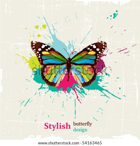 Stylish butterfly design