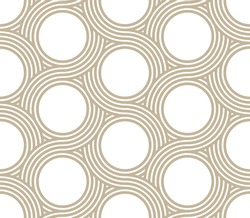 stylish circle pattern. seamless pattern design. editable vector file.