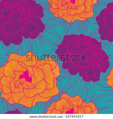 Stylish colorful floral vector pattern