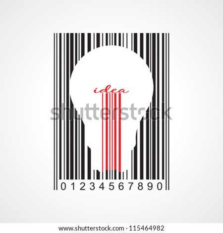 Stylish concept of idea bar code - stock vector