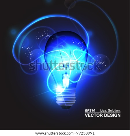 stylish conceptual digital light bulb design