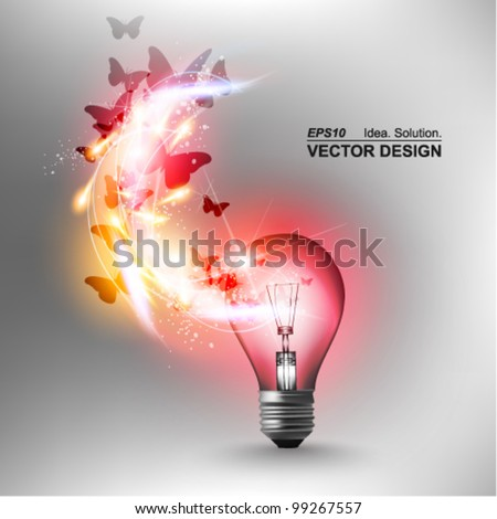 stylish conceptual digital light bulb idea design