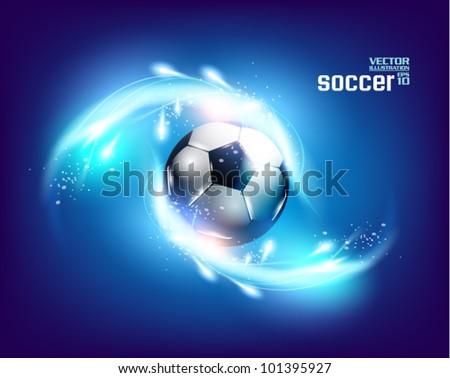 stylish conceptual digital soccer vector design