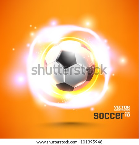 stylish conceptual digital soccer vector design