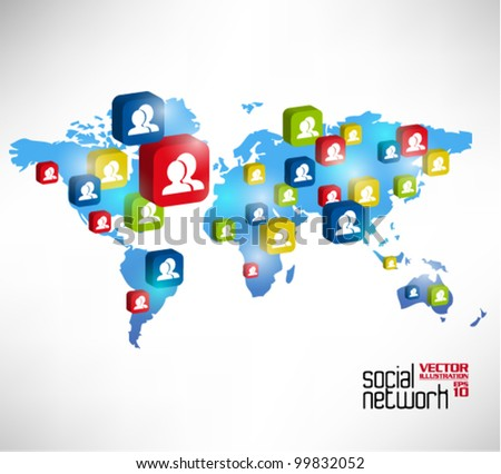 stylish conceptual social networking graphic design