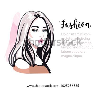 stylish cute girl portrait