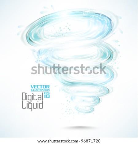 stylish digital flowing liquid design