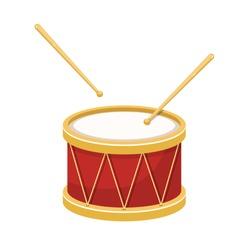 Stylish drum vector design illustration isolated on white background