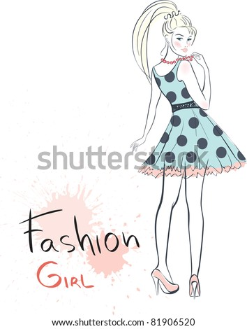 stylish fashion beauty girl