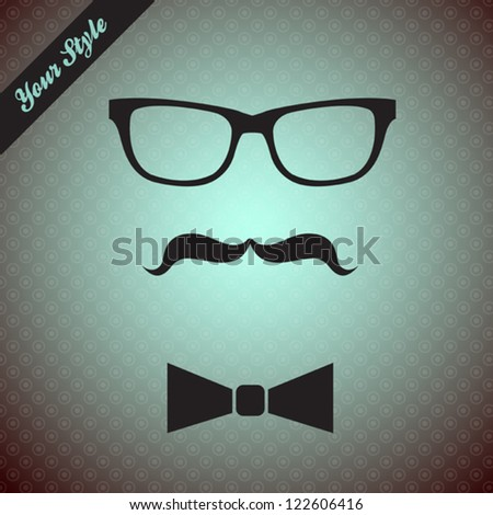 Stylish fashion set, vector illustration on beautiful background