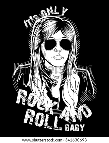 stylish female rocker t shirt