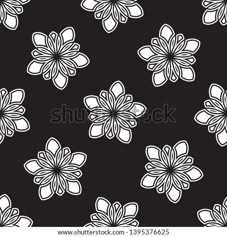 stylish five petals flower