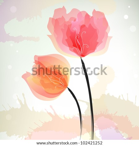 Stylish floral eps10 vector background