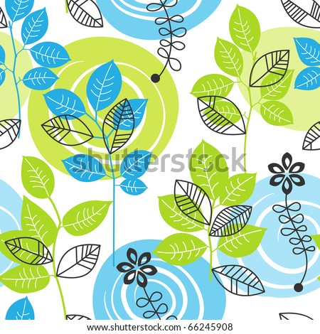 Stylish floral seamless background - stock vector